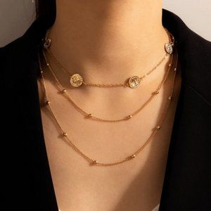 Multilayer Chain Choker Necklace